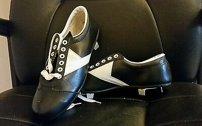 Vintage Leather football or baseball cleats by Jacobs. Size 7. NEVER WORN