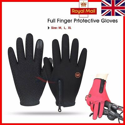 Thick warm WINDPROOF CYCLING GLOVES MTB BMX BREATHABLE BIKE BICYCLE RIDING SPORT