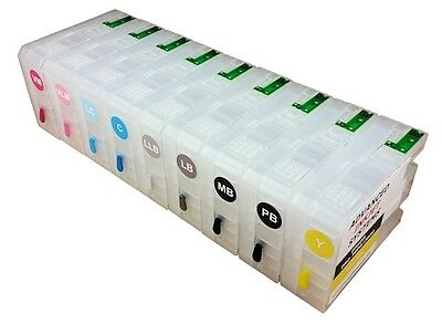 Refillable Ink Cartridges For Epson Sc P800 Printers All Colours