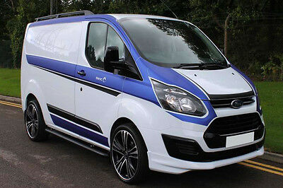 Ford Transit Custom Rs Edition Look Front Bumper Lip Spoiler / Splitter