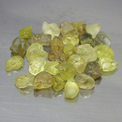 20.70 Ct. UNHEATED Natural Rough Yellow Green Chrysoberyl Specimens Gemstones