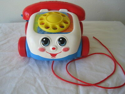 Fisher Price 2000 Chatter Phone Pull Along Toy Classic Telephone Baby Toy EUC