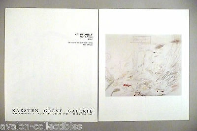 Cy Twombly Art Gallery Exhibit Double-Page PRINT AD - 1989 ~~ Mars & Venus
