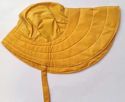 North Atlantic Trading Yellow Sou'wester Fishermans Hat Foul Weather Mens XL