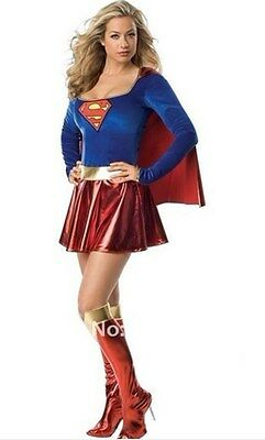 Aimerfeel Superwoman fancy dress costume size 6-8,10-12, 14-16