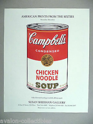 Andy Warhol Art Gallery Exhibit PRINT AD - 1989 ~~ Campbell's Soup