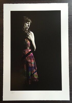 SNIK & DILK Collaboration - 'The Girl in the Dress' Rare Hand Finished Print!