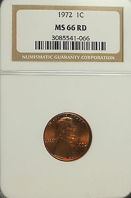1972 Ncg Ms66 Red Lincoln Cent!!!! #A0249