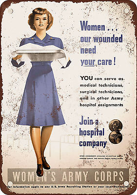 1945 Women's Army Corps Vintage Look Reproduction Metal Sign