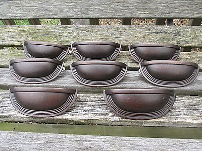 Art Deco Style Drawer Pulls Bin Pulls Set of 8, NICE!