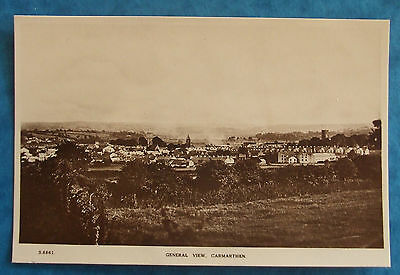 KINGSWAY RP Postcard c.1920 GENERAL VIEW CARMARTHEN CARMARTHENSHIRE WALES