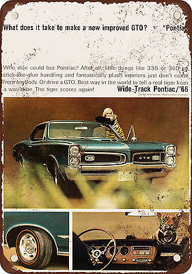 1966 Pontiac GTO Vintage Look Reproduction Metal Sign