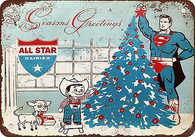 1967 Superman for All Star Dairies Vintage Look Reproduction Metal Sign