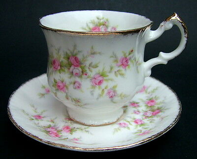 Vintage Paragon Victoriana Rose Pattern Cofee Cups & Saucers - Look in VGC