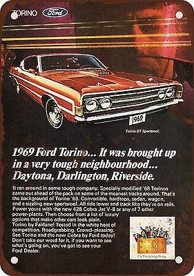 1969 Ford Torino GT Vintage Look Reproduction Metal Sign