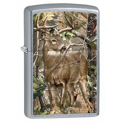 Zippo 29310, Deer In Woods-Realtree, Street Chrome Lighter, Full Size