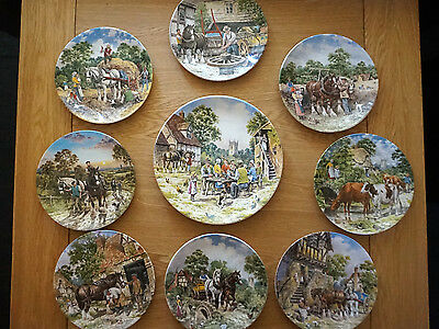 Complete Set of Wedgwood Collector's Plates- Life On The Farm
