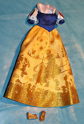 Robe dress Disney BLANCHE NEIGE taille Barbie outfit + chaussures