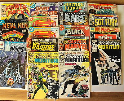 Lot of 19 Bronze Age Comics - Our Army at war, Sgt Fury, Superman, Capt Marvel