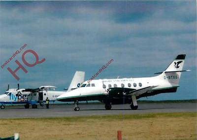 Postcard: Highland Airways and Flybe Aircraft at Benbecular Airport