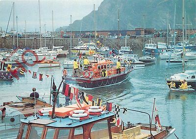 Postcard: LIFEBOAT, MERSEY CLASS, SPIRIT OF DERBYSHIRE, ILFRACOMBE