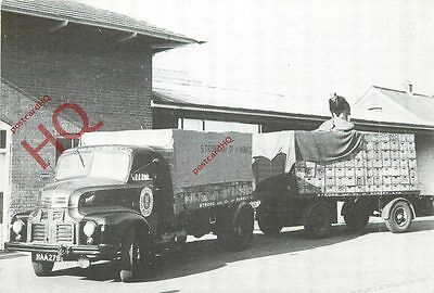 Postcard: Leyland Comet And Trailer, Stong & Co