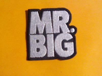 Mr. Big,sew On White Embroidered Patch