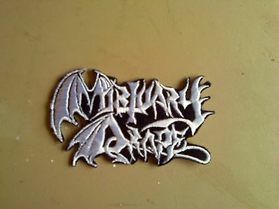 Mortuary Drape,iron On White Embroidered Patch