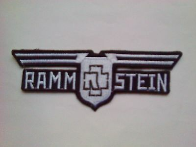 Rammstein,iron On White Embroidered Patch