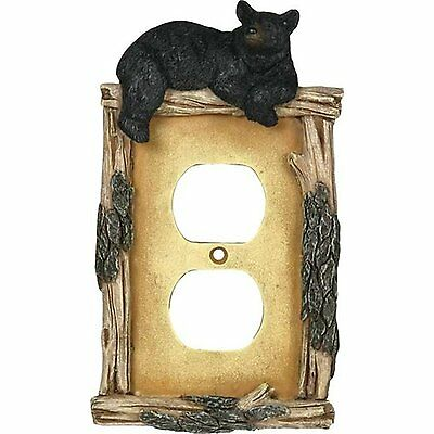 Rivers Edge Products Bear Receptacle Electrical Cover Plate #8