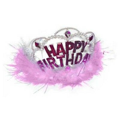 Happy Birthday Tiara Crown - Girls Costume Party Fancy Dress Up