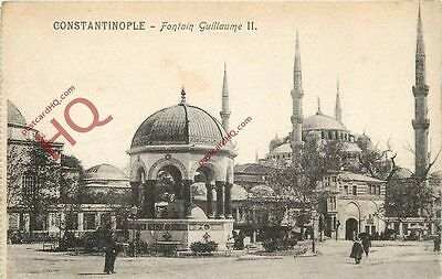 Postcard: Constantinople (Istanbul), Fountain Guillaume Ii