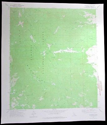 Claraville Sequoia National Forest California vintage 1975 old USGS Topo chart