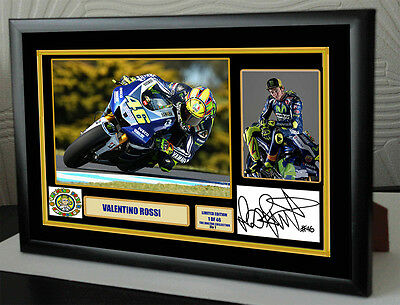 "Valentino Rossi ""The Doctor""  Framed Canvas Signed Print     ""Great Gift"""