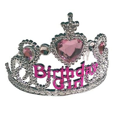 Birthday Girl Tiara Crown - Girls Costume Party Fancy Dress Up