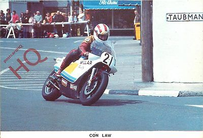 Postcard: ISLE OF MAN T.T. RACE, CON LAW AT PARLIAMENT SQUARE, RAMSEY 1983