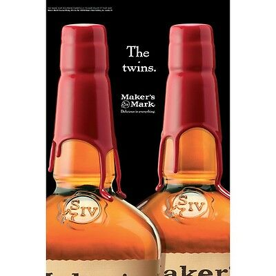 """Makers Mark """"The Twins"""" Poster 18 By 27"""