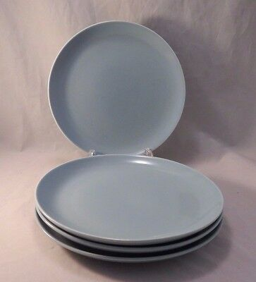 Russel Wright Iroquois Casual Ice Blue Luncheon Plates Set of 4 Discontinued