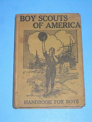 Boy Scout Handbook For Boys 1912 First Edition Fourth Printing Hard Cover