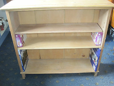 Vintage/farmhouse/rustic Pitch Pine Bookcase - 2 Shelves
