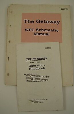 The Getaway Schematics and Handbook Pinball Manual Solid State