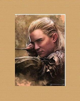Official Matted Official Lotr Art * Desolation Of Smaug * Legolas
