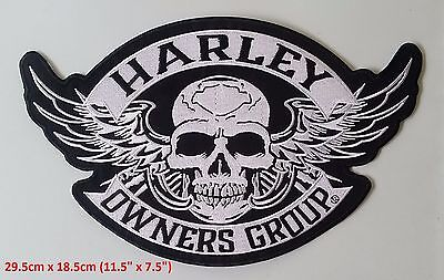 Harley Owners Group (HOG's) New Style Patch ~ LARGE