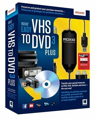 Roxio Easy VHS to DVD 3 Plus - VHS to DVD 3.0 Converter Software for Windows