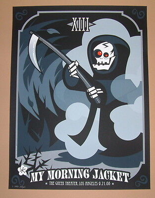 My Morning Jacket Los Angeles Randy Fung Poster Print Signed Numbered 2008