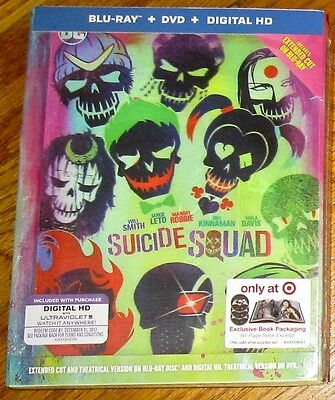 Suicide Squad Target Exclusive DigiBook Extended Ed Blu-ray/DVD Pre-Order Dec 13