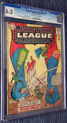 Justice League of America #18 CGC 6.5 OW/W Pages - Journey Into the Miro-World!