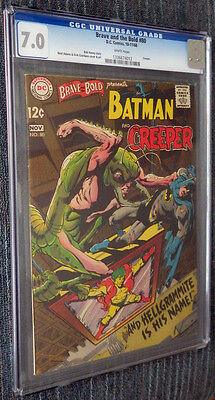 Brave and the Bold #80 CGC 7.0 White Pages Batman & The Creeper vs Hellgrammite!