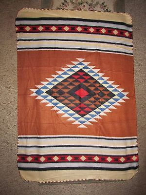 NATIVE AMERICAN INDIAN Throw BLANKET Made by Children from St. Labre School #1