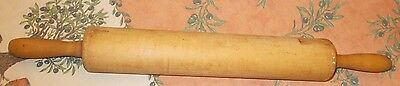 "24"" Long Old Vintage Wood Rolling Pin"